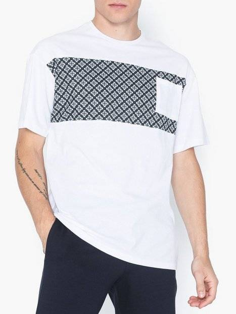 Image of Only & Sons Onsvp Reg Ss Dropshoulder Panel Tee T-paidat ja topit Valkoinen