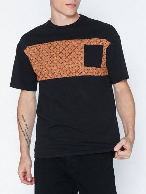Image of Only & Sons Onsvp Reg Ss Dropshoulder Panel Tee T-paidat ja topit Musta