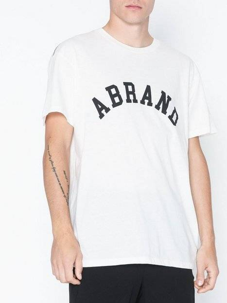 Abrand Jeans A Brand Tee T-paidat ja topit Valkoinen