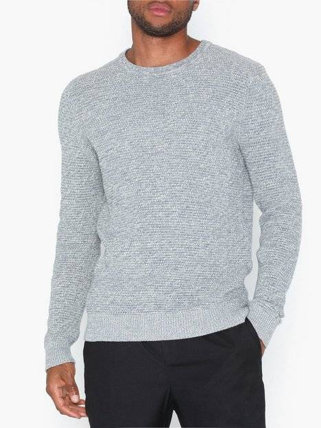 Image of Only & Sons onsDANIEL 5 Struc Crew Neck Knit Puserot Vaaleanharmaa