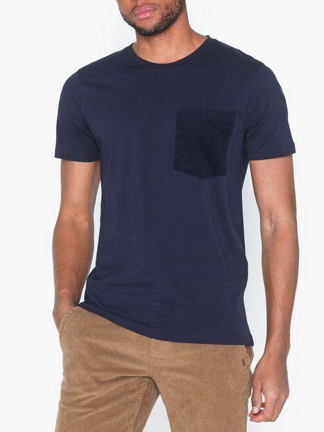 Image of Selected Homme Slhvance Ss O-Neck Tee B T-paidat ja topit Tummansininen
