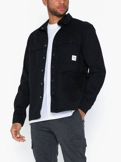 Image of Only & Sons onsGAVIN Ls Twill Workwear Overshir T-paidat ja topit Musta