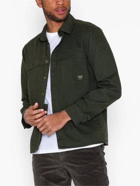 Image of Only & Sons onsGAVIN Ls Twill Workwear Overshir T-paidat ja topit Tummanvihreä