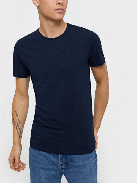Image of Selected Homme Slhnewpima Ss O-Neck Tee B Noos T-paidat ja topit Tummansininen