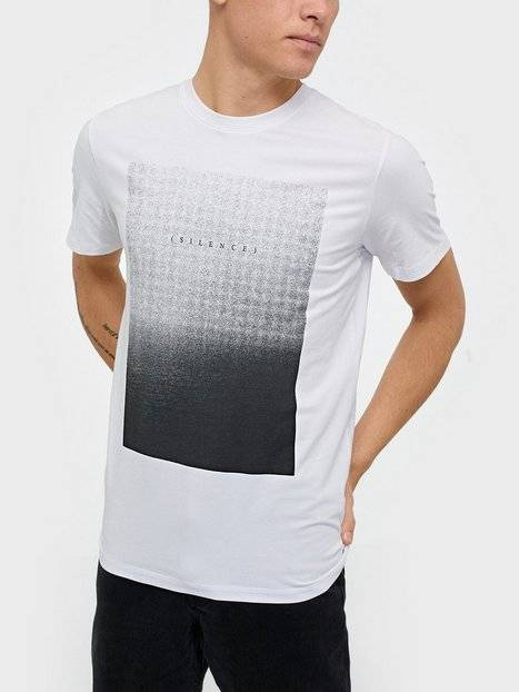 Image of Selected Homme Slhpima Print Ss O-Neck Tee B Ex T-paidat ja topit Valkoinen