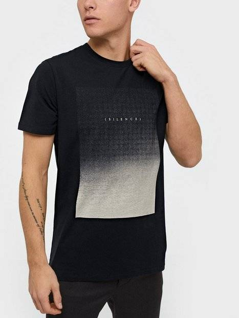 Image of Selected Homme Slhpima Print Ss O-Neck Tee B Ex T-paidat ja topit Musta