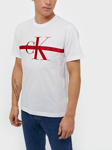 Image of Calvin Klein Jeans Taping Through Monogram Reg Tee T-paidat ja topit White