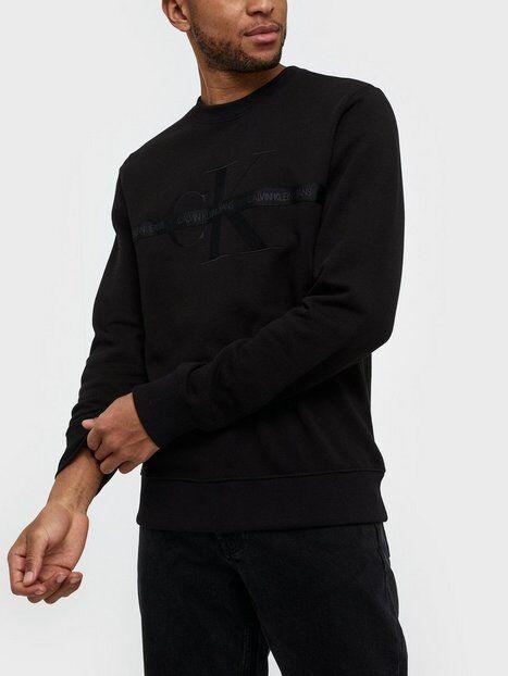 Image of Calvin Klein Jeans Taping Through Monogram Cn Puserot Black