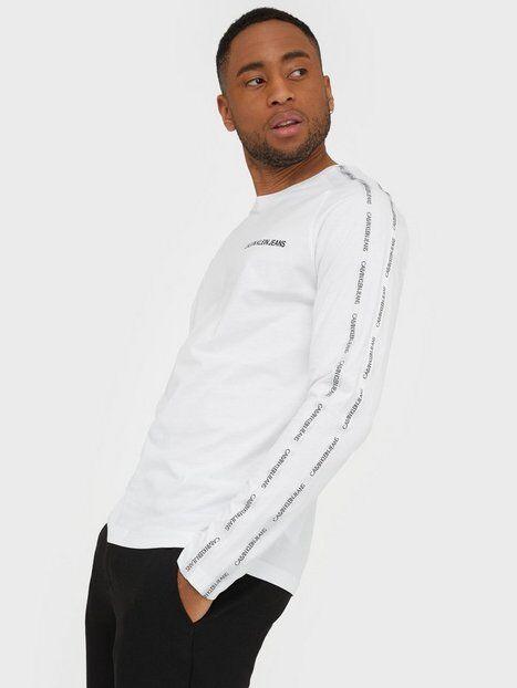 Image of Calvin Klein Jeans Instit Tape Slim L/S Tee Puserot White