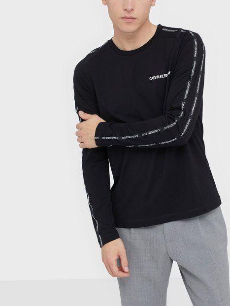Image of Calvin Klein Jeans Instit Tape Slim L/S Tee Puserot Black