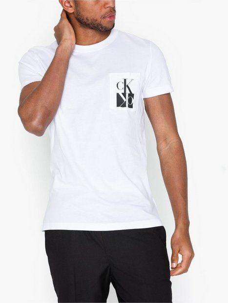 Image of Calvin Klein Jeans Mirrored Monogram Pkt Slim Tee T-paidat ja topit Valkoinen