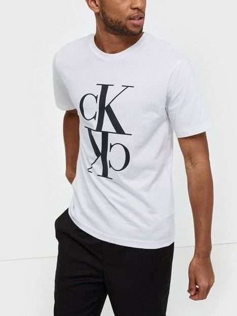 Image of Calvin Klein Jeans Mirrored Monogram Reg Tee T-paidat ja topit Valkoinen
