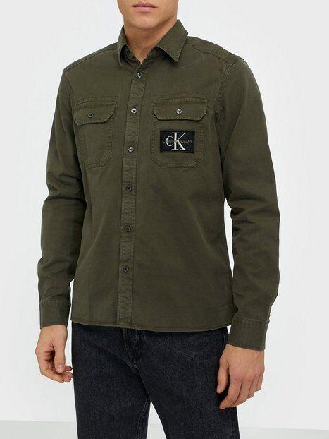 Image of Calvin Klein Jeans Gmd Twill Overshirt Reg + Shirt Kauluspaidat Green