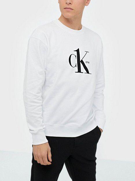 Image of Calvin Klein Jeans Logo Regular Crewneck Hwk Puserot Valkoinen