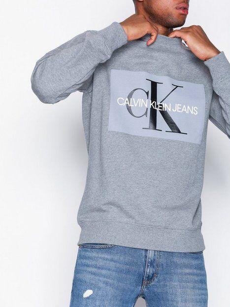 Image of Calvin Klein Jeans Basic Monogram Logo Sweat Puserot Grey