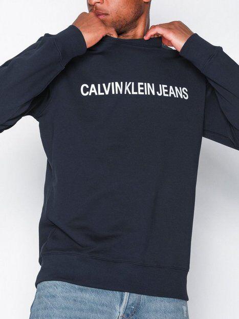 Image of Calvin Klein Jeans Basic Institutional Logo Sweat Puserot Night Sky