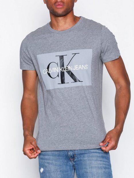 Image of Calvin Klein Jeans Basic Monogram Box Logo Slim Tee T-paidat ja topit Grey
