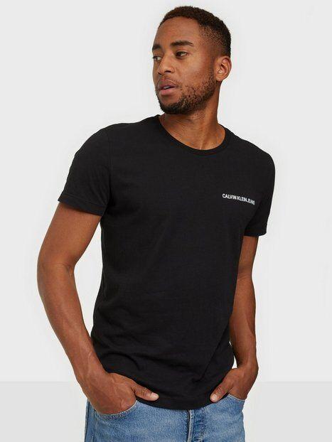 Image of Calvin Klein Jeans Chest Institutional Slim Tee T-paidat ja topit Musta