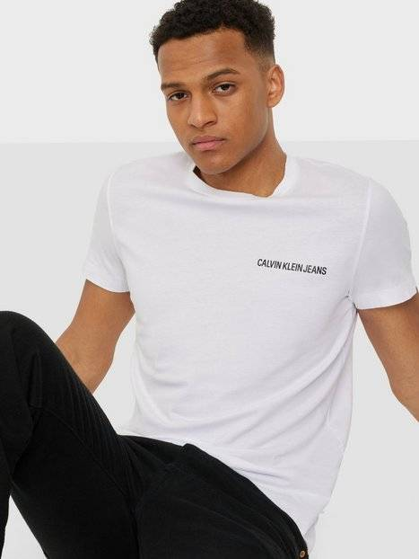 Image of Calvin Klein Jeans Chest Institutional Slim Tee T-paidat ja topit Bright White