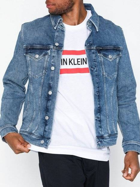 Image of Calvin Klein Jeans Foundation Slim Denim Jacket Takit Deniminsininen