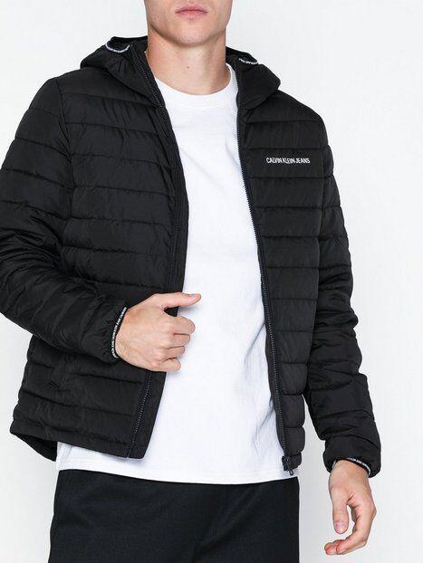 Image of Calvin Klein Jeans Padded Hooded Jacket Takit Musta