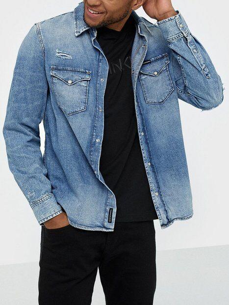 Image of Calvin Klein Jeans Modern Western Shirt Kauluspaidat Denim