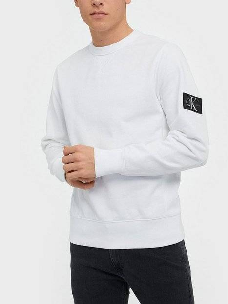 Image of Calvin Klein Jeans Monogram Sleeve Badge Cn Puserot White