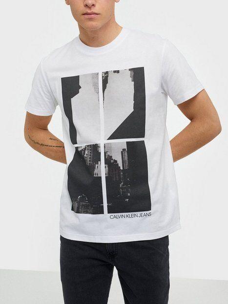Image of Calvin Klein Jeans Upscaled Ny Photo Print Reg Tee T-paidat ja topit White