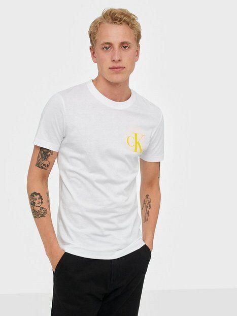 Image of Calvin Klein Jeans Instit Back Pop Logo Slim Tee T-paidat ja topit White