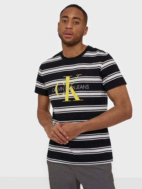 Image of Calvin Klein Jeans Monogram Stripe Reg Tee T-paidat ja topit Black/White