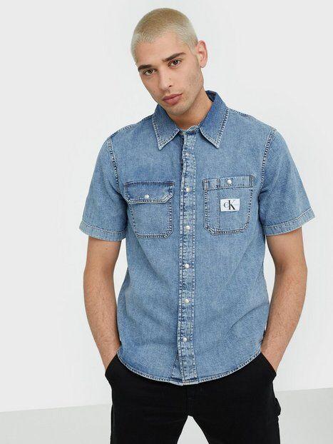 Image of Calvin Klein Jeans Short Sleeve Utility Shirt Kauluspaidat Denim