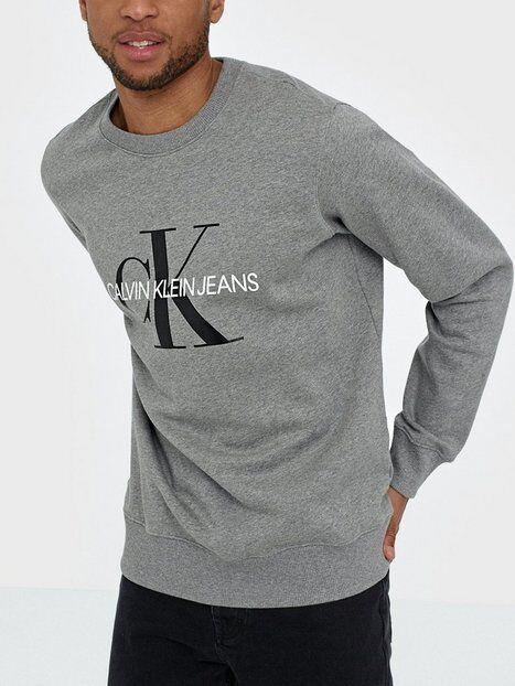 Image of Calvin Klein Jeans Iconic Monogram Crewneck Puserot Harmaa