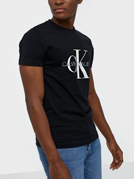 Image of Calvin Klein Jeans Iconic Monogram Ss Slim Tee T-paidat ja topit Musta