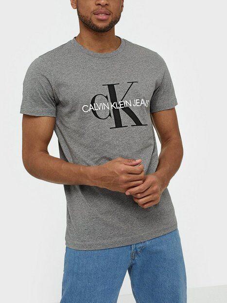 Image of Calvin Klein Jeans Iconic Monogram Ss Slim Tee T-paidat ja topit Harmaa