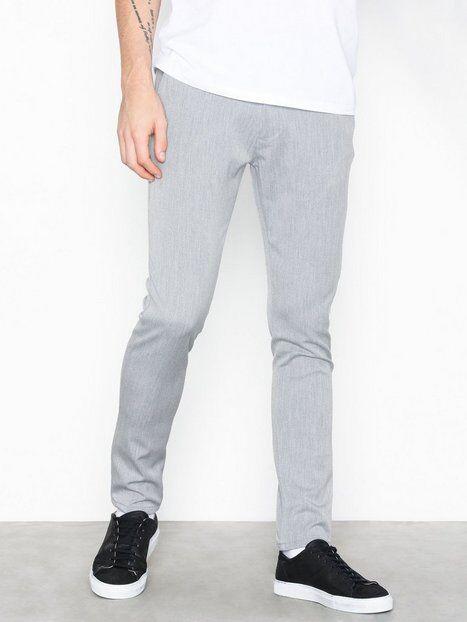 Image of Tailored Originals Pants -TOFrederic Housut Light Grey Melange