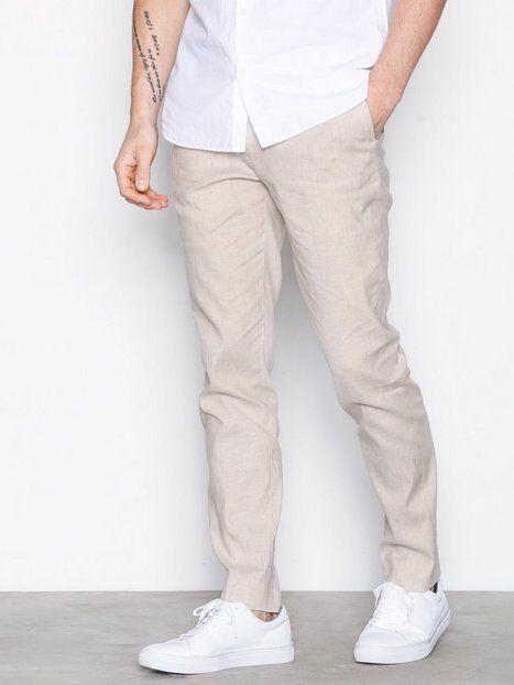 Premium by Jack & Jones Jprmack Trouser Linen Housut Beige