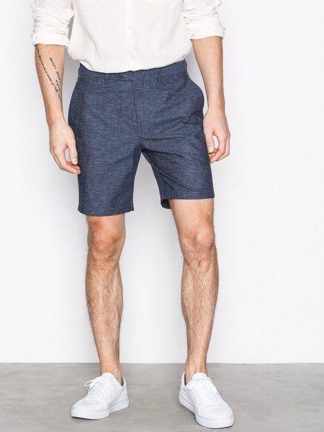 Selected Homme Shdstraight Bale Shorts Shortsit Tummansininen