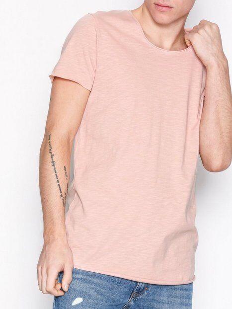 Jack & Jones Jjebas Tee Ss U-Neck Noos T-paidat ja topit Vaalea pinkki