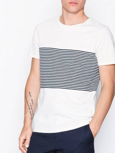 Selected Homme Shhclass Ss O-Neck Tee T-paidat ja topit Offwhite
