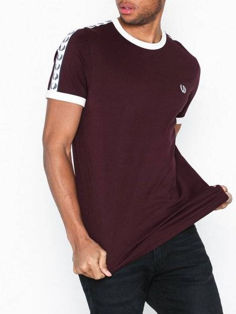 Fred Perry Taped Ringer T-Shirt T-paidat ja topit Mahogany