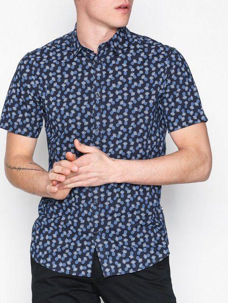 Tailored Originals Shirt - Alberto Kauluspaidat Blue