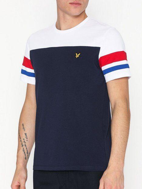 Scott Lyle & Scott Contrast Band T-shirt T-paidat ja topit Navy