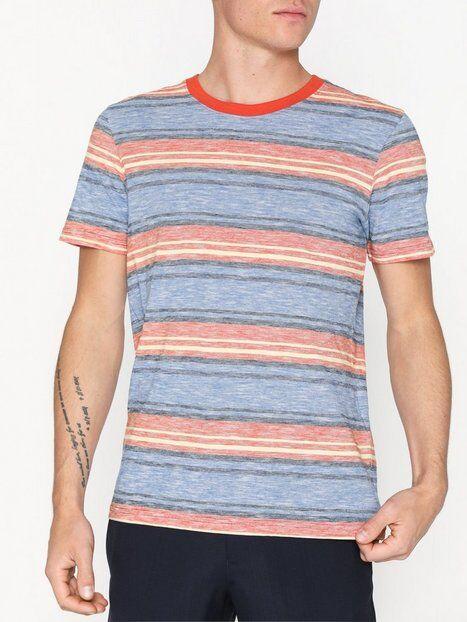 Selected Homme Slhkasper Stripe Ss O-Neck Tee W Ca T-paidat ja topit Sininen