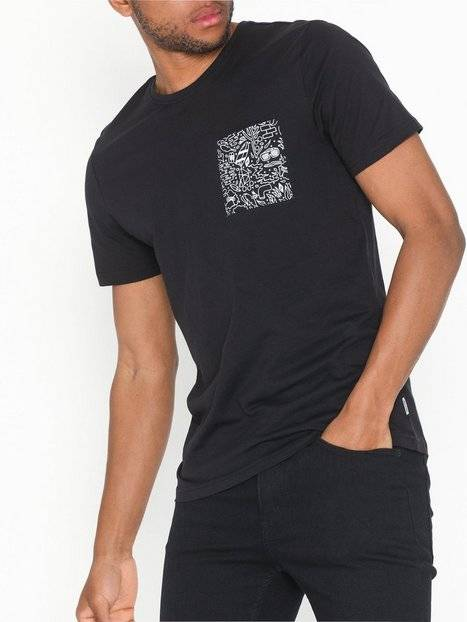 Only & Sons onsPETOSKEY Ss Fitted Tee Camp T-paidat ja topit Musta