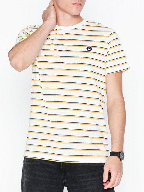 Jack & Jones Jorstanford Tee Ss Crew Neck T-paidat ja topit Valkoinen