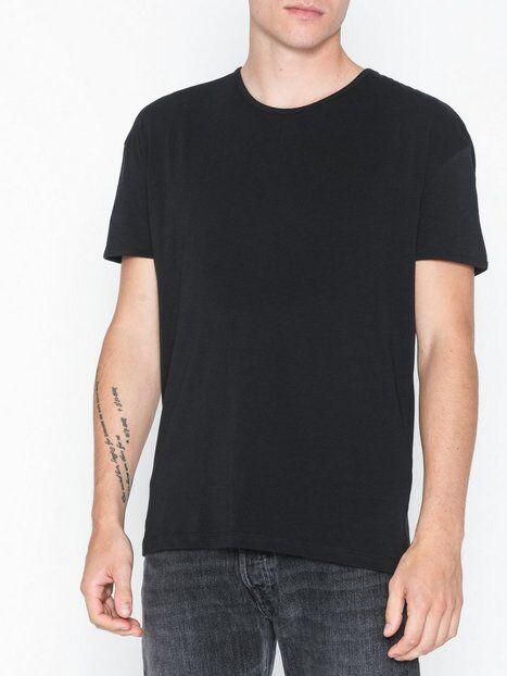 Selected Homme Slhheat Ss O-Neck Tee B Ka T-paidat ja topit Musta