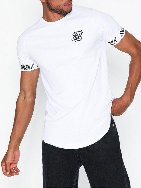 SikSilk Short Sleeve Raglan Tech T-paidat ja topit White