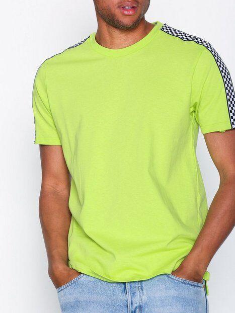 Topman Ss Lime Cls Chkr Tpe T-paidat ja topit Light Green