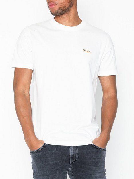Nudie Jeans Daniel Logo Tee T-paidat ja topit Offwhite