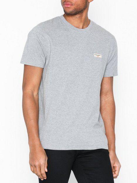 Nudie Jeans Daniel Logo Tee T-paidat ja topit Grey Melange